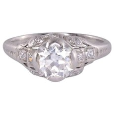 Edwardian 1.30 Carat Diamond Engagement Ring