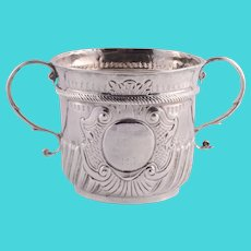 Timothy Ley Rare Queen Anne Sterling Silver Porringer