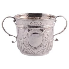 Timothy Ley Rare Queen Anne Sterling Silver Porringer
