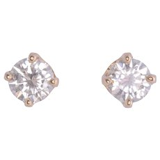 .50 CTW Diamond Stud Earrings