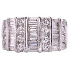 3.0 CTW Wide Diamond Ring