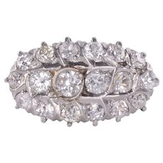 Diamond Cluster 18K Ring