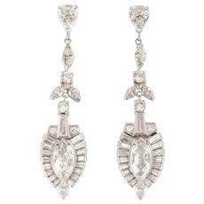 Platinum 6.40 CTW Diamond Earrings