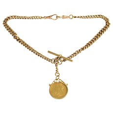 Sovereign Coin Watch Chain and Fob