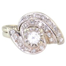 0.22 Carat Center Diamond Wedding Set