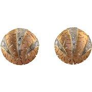 0.90 CTW Diamond Circular 18K Earrings