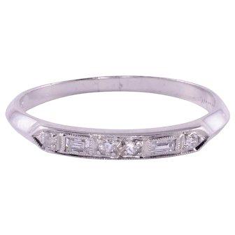 Diamond Platinum Wedding Band