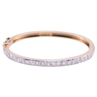 1.20 CTW Diamond Hinged Bangle Bracelet
