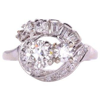 .65 Carat Center Diamond Retro Ring