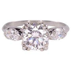 Platinum 1.45 Carat GIA Certified Diamond Engagement Ring