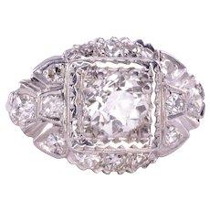 1.07 Carat VS2 Center Diamond Platinum Engagement Ring