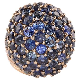 9.0 CTW Sapphire Cluster Ring