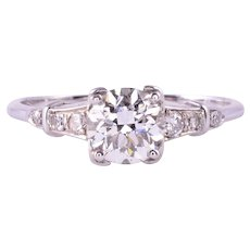 .90 Carat VS Center Diamond 18KW Engagement Ring