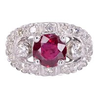 GIA Certified Ruby & Diamond Ring