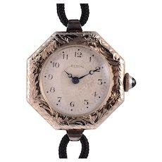 Lady Elgin 18 Karat White Gold Wrist Watch