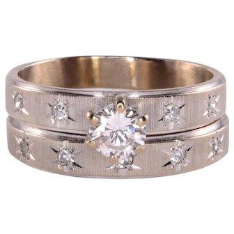 0.39 Carat VS1 Center Diamond Wedding Set