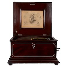 Regina Mahogany 15.5″ Disc Music Box