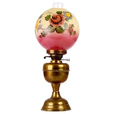 John Scott Hand Painted Oil Lamp