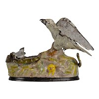 J&E Stevens Eagle & Eaglets Mechanical Bank