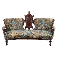 American Victorian Carved Sofa