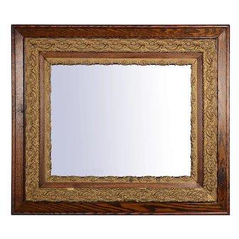 Tiger Oak Gilt Gesso Wall Mirror