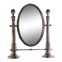 Silver Plate Swivel Mirror
