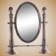 Silver Plate Swivel Mirror