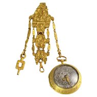 English Gilt Chatelaine Pocket Watch by Jonathan White