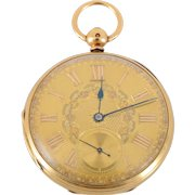 English 18K Yellow Gold Pocket Watch by JF Sedman