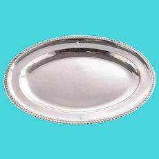 George III Benjamin Laver Sterling Silver Meat Platter