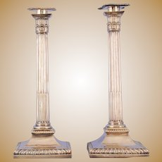 George III Pair of Sterling Silver Candlesticks