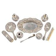 Stieff & Co Silver Ten Piece Vanity Set