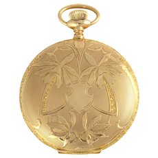 American 14K Gold Hunter Case Pocket Watch by Elgin