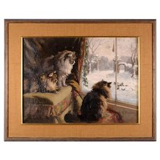 Agnes M Cowieson Painting of Kittens