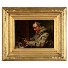 Eduard Von Grutzner Monk Painting
