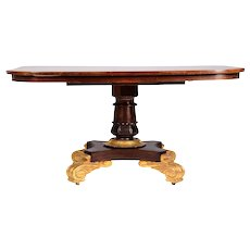 Mahogany Gilt Pedestal Table
