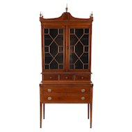 American Secretary and Bookcase in Mahogany