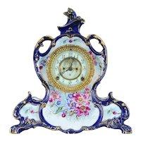 "American Porcelain Ansonia Mantel Clock ""La Vendee"" Model"