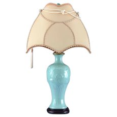 Table Lamp with Celadon Base