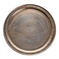 Thomas & James Creswick Round Salver in Sheffield Plate