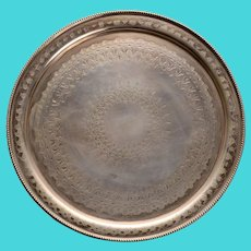 Thomas & James Creswick Round Salver in Sheffield Plate