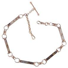 Rare California Gold Quartz Watch Chain