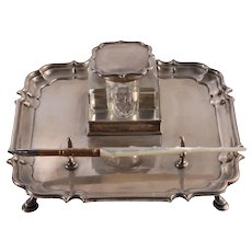Mappin & Webb Sterling Silver Pen Tray with Sheffield Pen