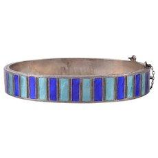 Sterling Silver Enameled Bracelet