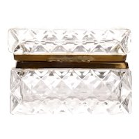 Cut Crystal Jewelry Casket