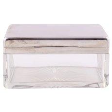 Netter Mannheim 800 Silver & Crystal Dresser Box