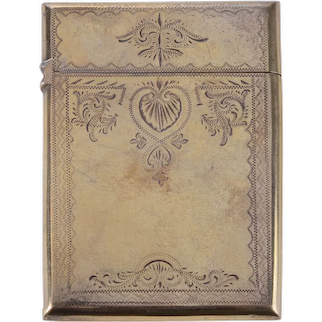 Gilt Silver Card Case
