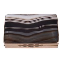 9 Karat Gold and Agate Snuff Box