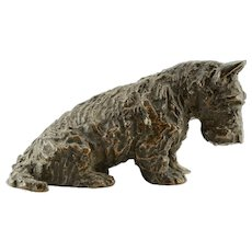 Marguerite Kirmse Bronze Sculpture of Scottish Terrier