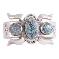 Native American Spider Web Turquoise Bracelet